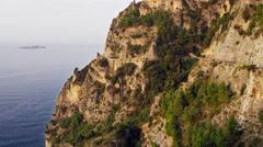 Stock Video Footage of Amalfi Coast Road Italy 4K Stock Video Footage