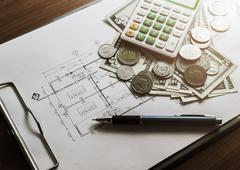 Investment for construction with limit budget - stock photo