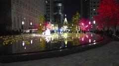 Salt Lake City Christmas lights reflection - stock footage