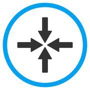 Collide Arrows Icon - stock illustration