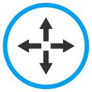 Expand Arrows Icon - stock illustration