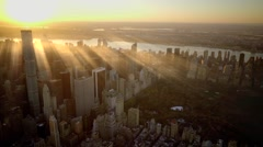 establishment shot of city skyline metropolis district. shot on red epic - stock footage
