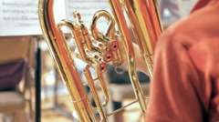Students In High School Band Practice - stock footage