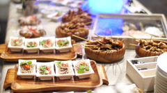 Pan Asian catering kitchen Stock Footage