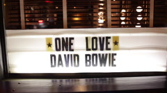 Tribute to David Bowie in Manhattan New York Stock Video Stock Footage