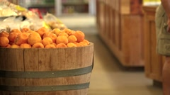 Barrel of Oranges Stock Footage