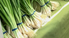 Green Onions Stock Footage