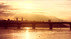 Kiev, Ukraine. Beautiful view of sunset in Kiev. Stock Footage