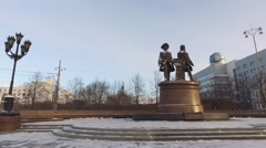 Tatishchev and Gennin. Yekaterinburg, Russia Stock Footage