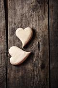 Symbolic of two hearts - stock photo