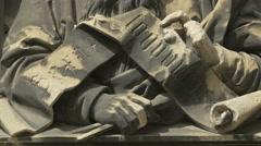 Part of Friedrich von Schmidt relief portrait at Stephansdom, Vienna Stock Footage