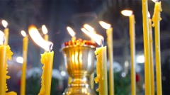 Flame of candle in the church 2 Stock Footage
