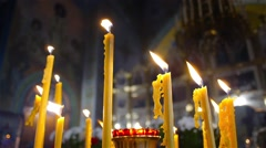 Flame of candle in the church 1 Stock Footage