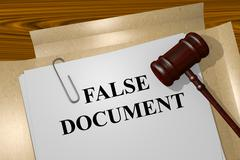 False Document concept Stock Illustration