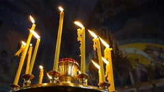 Flame of candle in Church 1 Stock Footage
