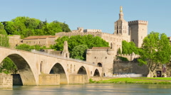 View of Avignon in a summer day - stock footage