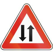 Road sign used in Slovakia - Two-way traffic Stock Illustration