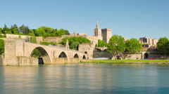 Old arhitecture of Avignon - stock footage