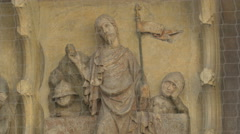 Stock Video Footage of Bas relief sculpture on Stephansdom, Vienna