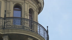 Balcony of Hotel Royal, Vienna Stock Footage