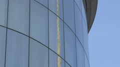 Sky reflected on the facade of Haas House, Vienna Stock Footage