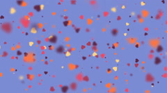 Valentines Hearts background  Stock Footage