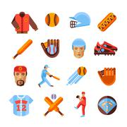Baseball Icons Set Stock Illustration