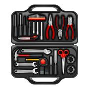 Tool Box With Toolkit Set Stock Illustration