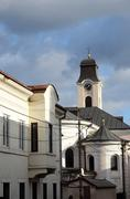 Dome of Roman Catholic cathedral Elevation of the Cross ,Chernivtsi , Ukraine Stock Photos