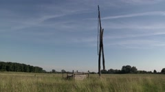 OLD WATER WELL IN HUNGARIAN PUSZTA 2 Stock Footage