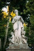 The monument symbolizing science in city Aix-en-Provence, France - stock photo
