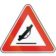 Road sign used in Slovakia - Accident - stock illustration