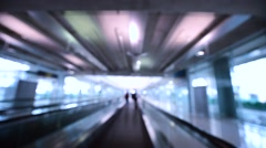 motion of moving sidewalk as it passes under the camera's perspective - stock footage