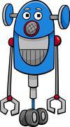 Stock Illustration of funny robot cartoon illustration