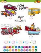 Math educational task for children Stock Illustration