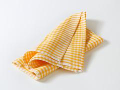 Checked tea towel - stock photo