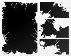 Vector grunge frame - stock illustration