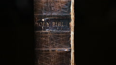 Bible Revealed by Light Stock Footage