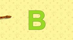 Boa. English ZOO Alphabet - letter B - stock footage