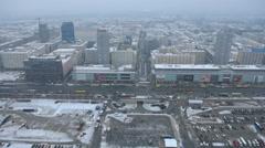 Cityscape of Warschau in Winter. Stock Footage