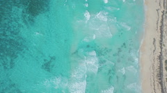 High angle shot of waves on beach Stock Footage