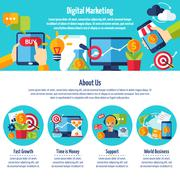 Digital Marketing Web Site - stock illustration