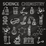 Science And Chemistry Icons Set - stock illustration