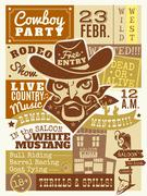 Cowboy Poster Illustration Stock Illustration