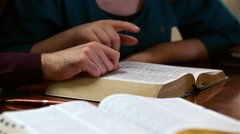 Young Couple Studying The Bible Stock Footage