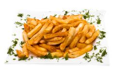pile of appetizing french fries - stock photo