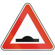 Road sign used in Slovakia - Speed bump Stock Illustration