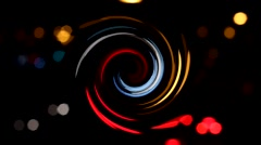 Car traffic at night swirled and blur - stock footage