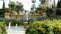 Italian statue fountain - stock footage