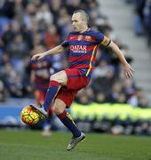 Andres Iniesta of FC Barcelona - stock photo